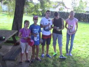 Lisa, Armand, Victor (1er), Enzo et Léa ont brillamment figuré