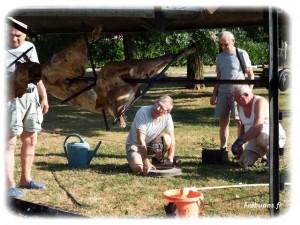 Les rôtisseurs à l'œuvre - Photo : Eric BIGORNE