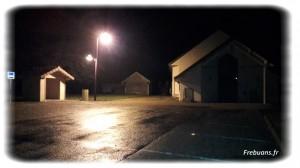 Éclairage salle des fêtes - Photo : Eric BIGORNE