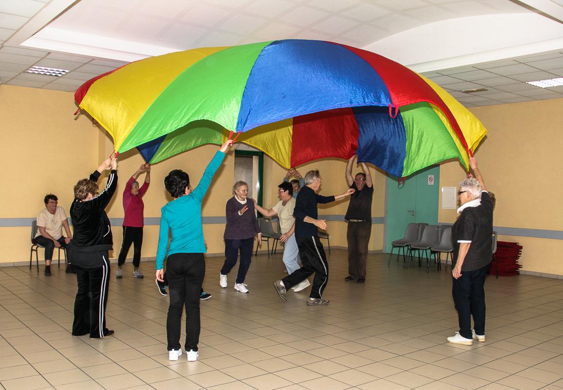 Activité gymnastique au Foyer Albert Baron